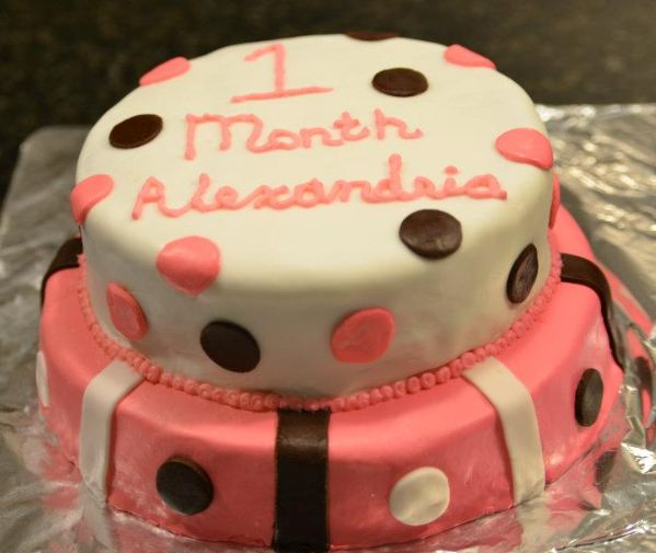 1 Month Birthday cake made by Kimberly