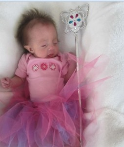Alexandria in her TuTu with Fairy Wand